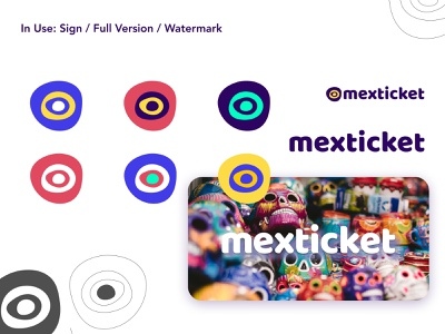 Mexticket brand: deliverables branidentity sign aztek vibrant brand booking travel portal travelapp flight mexico logo branding