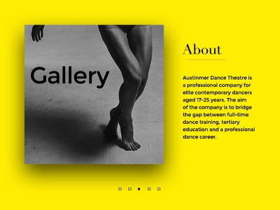 About page landing website studio background cta gallery about ux ui page web dance