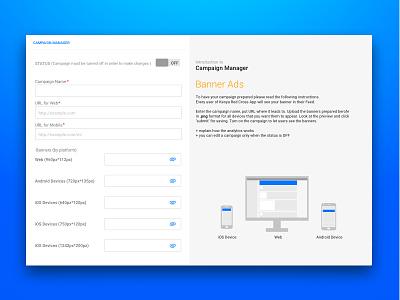 Campaing Manager for desktop social app upload ad banner material desktop switch social app manager campaign