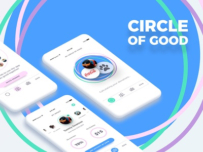 Redesign for iOS app cirle of good userinterface clean tabbar ios app workout donation charity ux ui