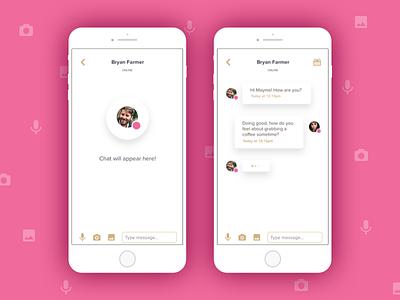 Chat UI interface status message type attachment chats conversation dialogur chat ui
