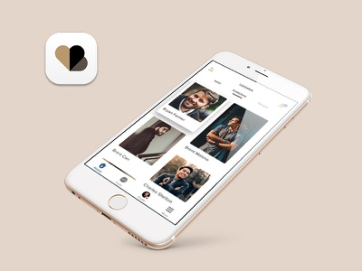 Dating App Homescreen ux interface ui grid matches feed homepage dating app ios