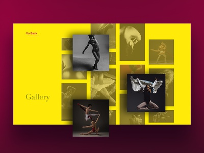 Dance Website Gallery Page website scroll interface theater dance webpage gallery webdesign ui web