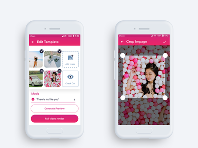 Inviter Android App applicationdesign videoapp render videoeditor photoeditor music frame crop photo ux interface screen appui appdesign application uxui uiux ui android