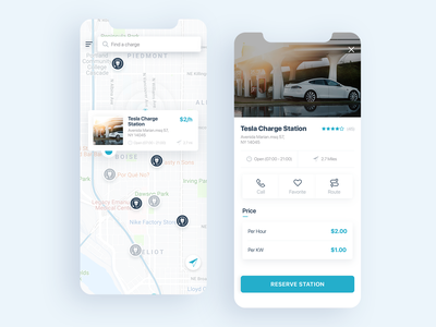 Electric Car Charging Stations ilustration logo mobile onboarding landing page web branding dashboad ios android website ux ui app design