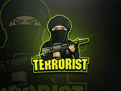 Terrrorist - Mascot & Esport Logo terrorist unique squad game design shot gun esport mascot esport logo logo soldier