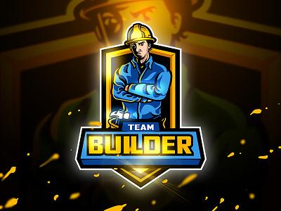 Builder - Mascot & Esport logo astisan unique squad game hammer sport helm esport mascot building logo builder