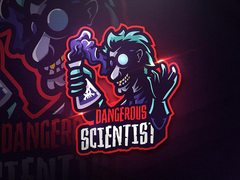 Dangerous Scientist - Mascot & Esport Logo by AQR Studio on