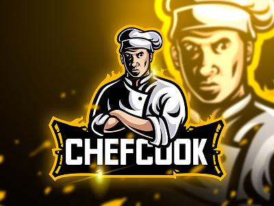 Chefcook - Mascot & Esport Logo knife unique food master sport kitchen esport mascot cook logo chef