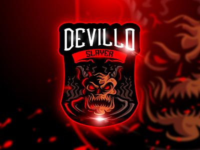 Devillo Slayer - Mascot & Esport Logo slayer unique squad game satan sport horn esport mascot demon logo devil