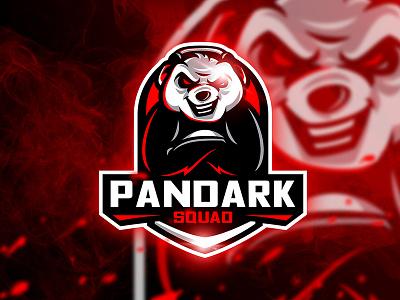 Pandark - Mascot & Esport Logo mad unique squad game red sport animal esport mascot gun logo panda