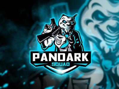 Pandark Squad - Mascot & Esport Logo weapon unique squad tie ak47 sport gun esport mascot dark logo panda