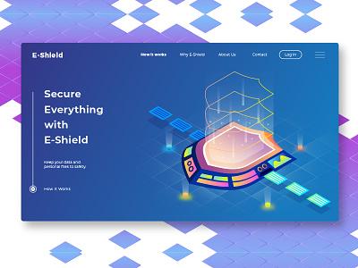 Eshield - Banner & Landing Page