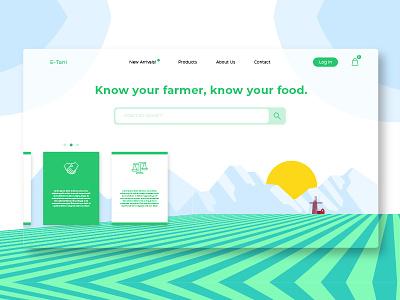 Farms - Banner & Landing Page farmer garden uiux form login farm website webapp launch landing page illustration banner
