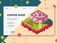 Coffee Shop - Banner & Landing Page