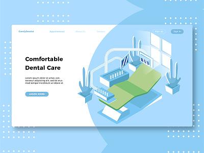 Dental Care - Banner & Landing Page banner web design uiux landingpage dental clinic hospital doctor dental care