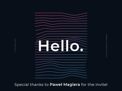 Hello. polish vector typography design illustration colors poster art montserrat photoshop illustrator waves graphic debut