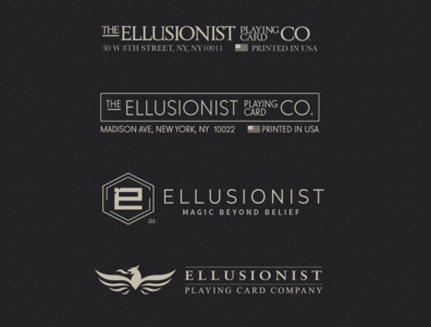 Ellusionist Logo playing cards ellusionist branding design brand identity logotype design logo branding magic