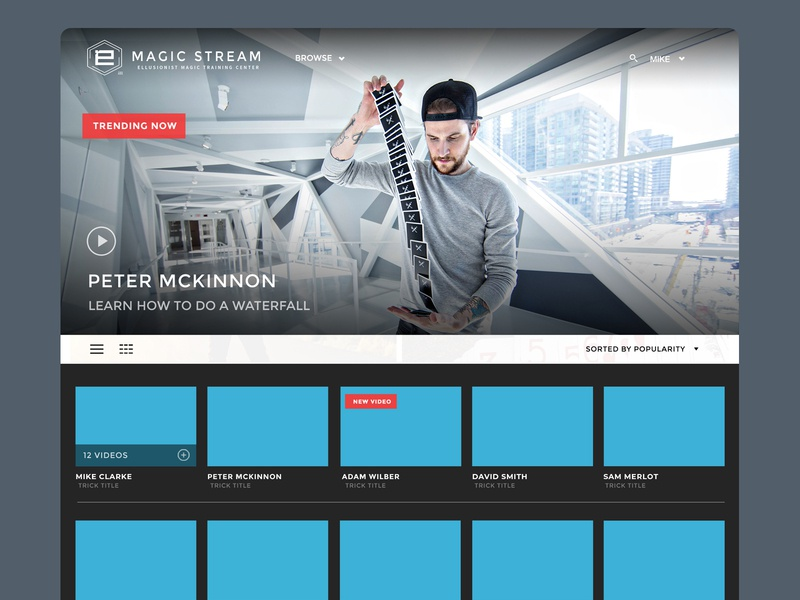 Magic Streaming Website streaming website brand identity web design web ux ui branding