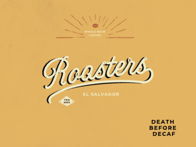 Roasters Coffee Logo vector design illustration typography brand identity branding design branding logo design logotype logo