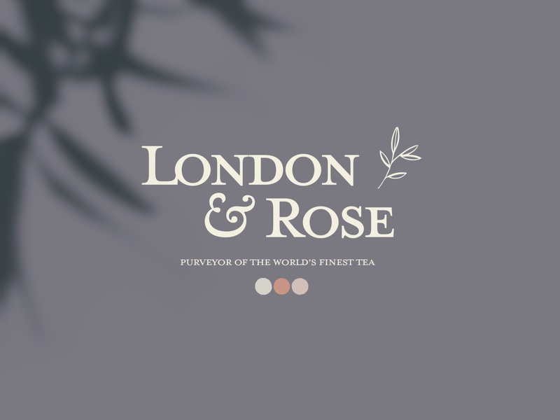 London & Rose Tea Company feminine clean vector label typography packaging logo design logodesign logotype logo brand identity brand design branding