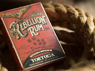 Rebelllion Rum  logo branding typography type identity logotype lettering packaging package design illustration liquor