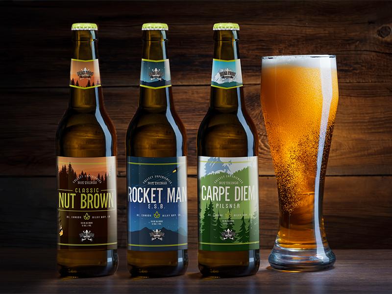Dead Frog Brewery vancouver canada pub bar illustration design drink pilsner lager alcohol label beer