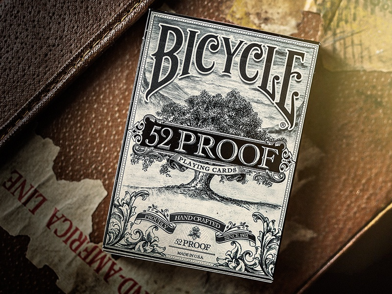 52 Proof Playing Cards label whiskey alcohol package design packaging branding brand bicycle identity playing cards
