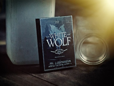 White Wolf Vodka label russia vodka alcohol package design packaging branding brand bicycle identity playing cards