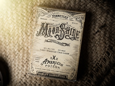 Moonshine label moonshine alcohol package design packaging branding brand bicycle identity playing cards