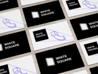 """Business cards concept for """"White Square 2016"""""""
