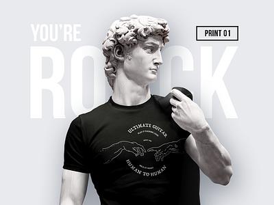 """Human to Human"" t-shirt print style print david identity brand hand fashion human rock illustration rock-n-roll t-shirt"