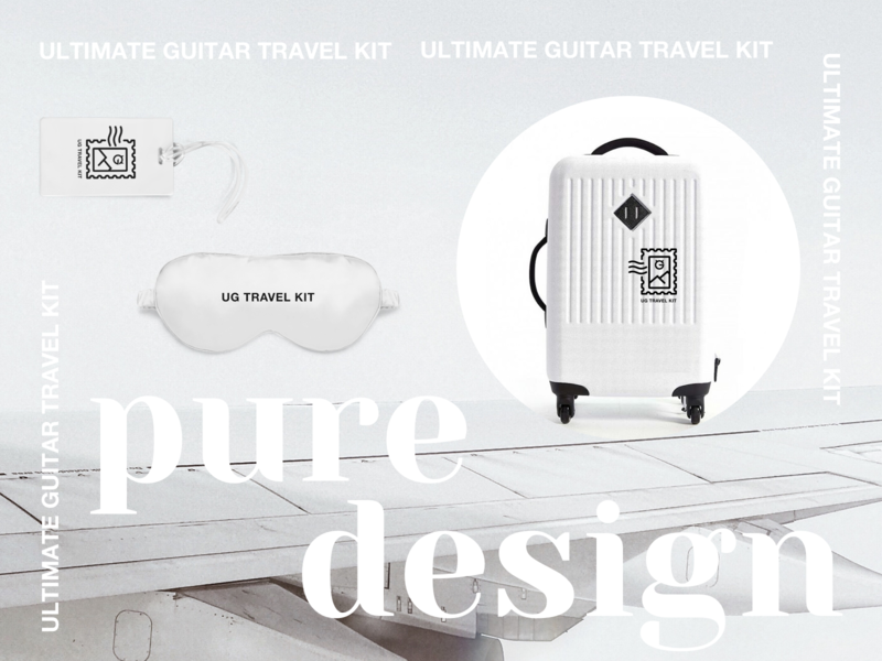 Travel Kit | Pure Design tag branding identity sleep bag luggage sticker adventure suitcase minimalistic pure travel