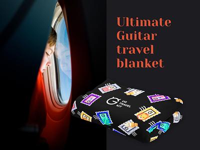 Travel Kit identity branding passport kit bag mask tag photo pillow blanket map plane travel