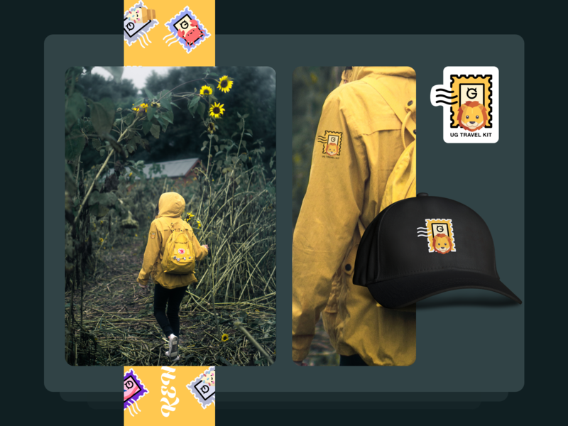 Travel Kit | Yellow Lion vacation travel yellow lion identity forest hat children kid adventure kit