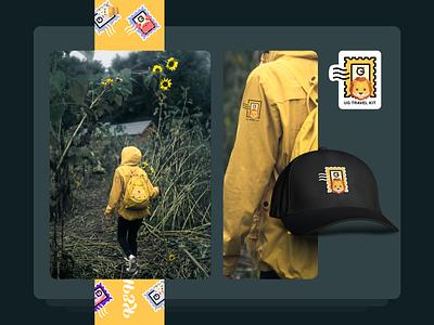 Travel Kit | Yellow Lion vacation travel yellow lion identity forest hat children kid adventure kit