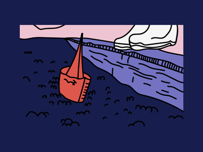 Graphic Experiment sea teapot girl illustration color photo polaroid icon card health iphone app ui movie
