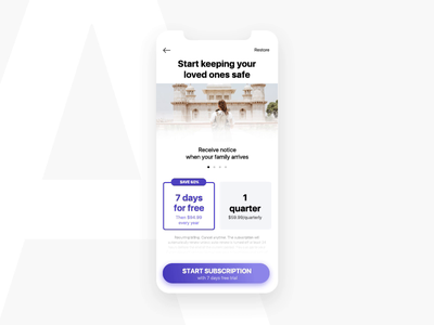 Family Location App | UI Test check location sale icon button tracker subscription pro pricing plans pricing page ui  ux ui app action