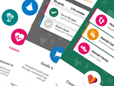 Onboarding on-boarding onboarding wellness fitness android design