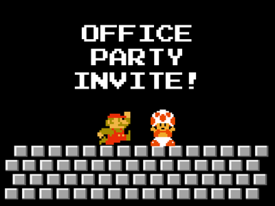 Office party invite play toad invite party office mario