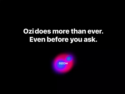 Ozi — Ai Assistant for Ozon store web ui ux animated product design smooth gradient holography clean ozone assistant ai colorful minimal website animation