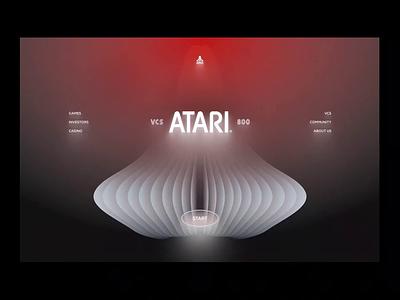 Atari VCS 800 Rebirth web black dark gray red deep volumetric neon minimal clean ui ux product design atari game retro cyberpunk branding animation