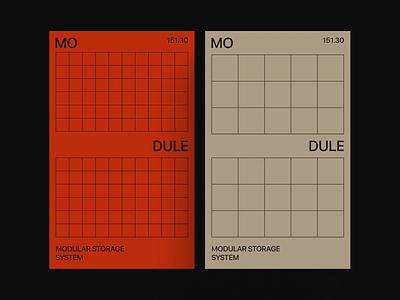 Web Grid Animation adaptive beige simple red clean geometric grid module modular minimal product design line typography ui web animation