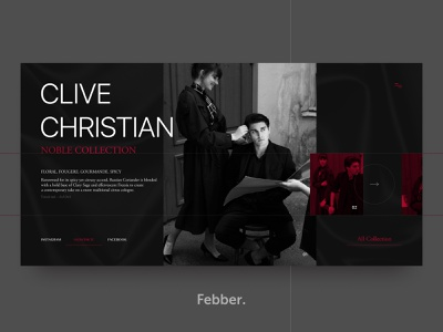 Clive Christian - Nobel Collection white web ux ui design typografy store reportage black and red perfume minimal man homepage grid girl fashion design concept clive christian clean black