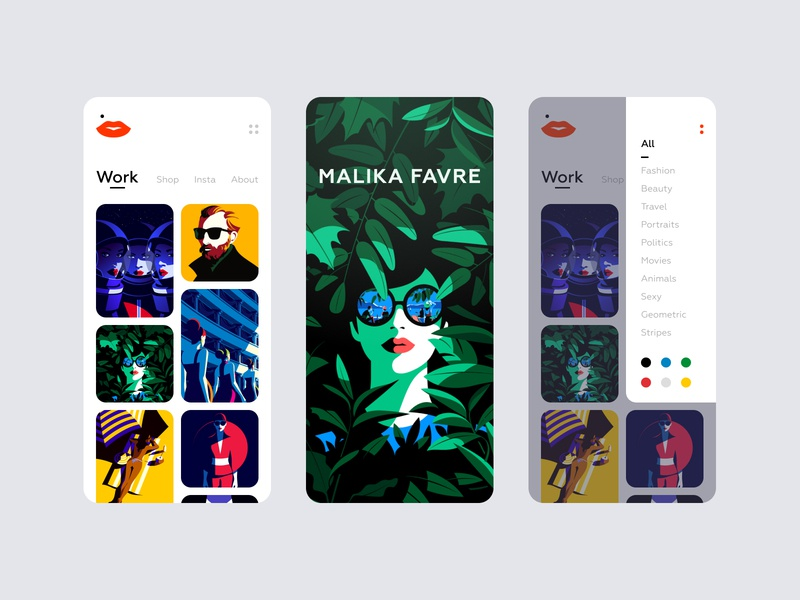 Malika Favre — Mobile App