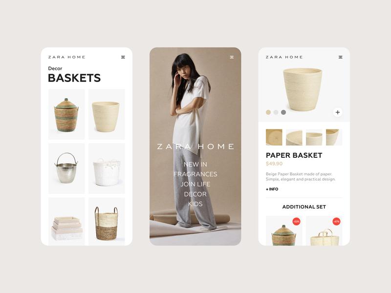 Zara Home — Mobile App