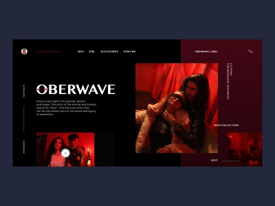 OBERWAVE — Web Store vampire rock and roll inspiration fashion store ux ui clean minimal webdesign grid
