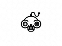 Joystick and skull logo