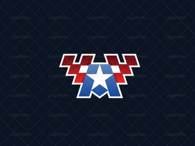 A logo sale logo buy logo logos for sale sports sport gaming games game esports esport logo flag star american letter a a logo a