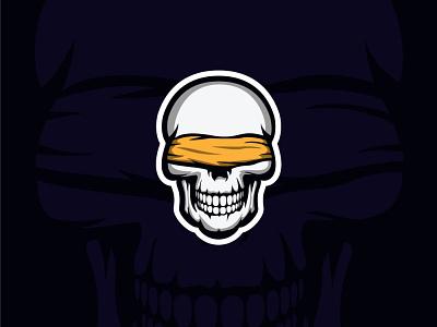 See No Evil Logo sticker logos gothic league championship competition tournament video media tech cartoon sport esports esport games game skulls skull logo mascot